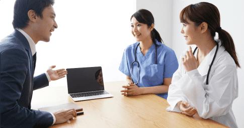 医療機関への人材支援に特化したサービスを提供